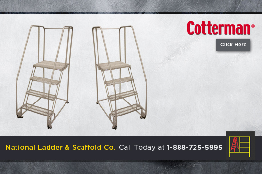 Rolling Stainless Steel Ladder