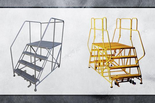 Rolling Work Platform Ladders