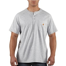 The Carhartt 100413 Henley shirt has the same features as the rest of the Force line up, but has a slightly different  look with the button down front opening that henleys are known to have.